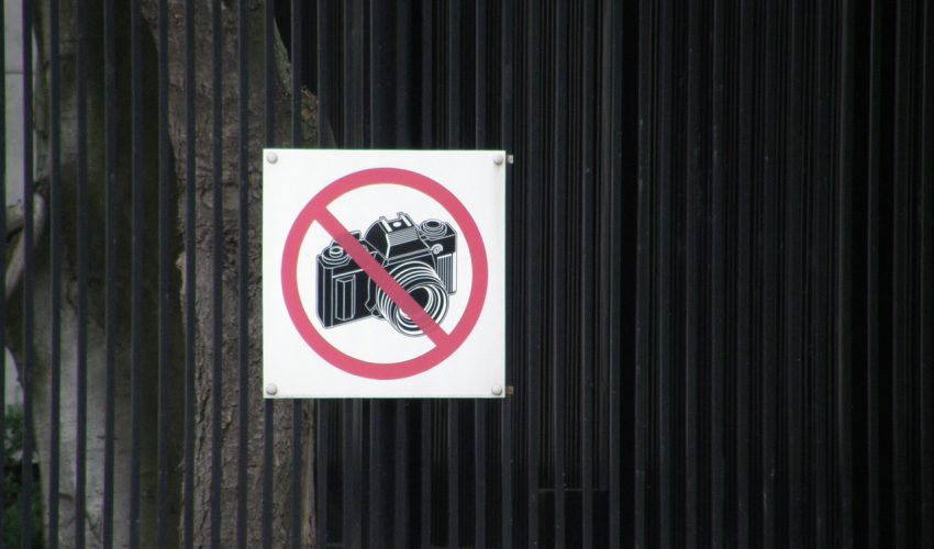Sign 850x500 - 4 Places Around the World Where It's Forbidden to Take Photos